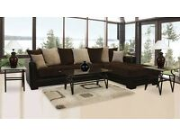 new large corner suite 9ft 8 by 6ft 6 dark brown sofa only £499 cookstown area BARGAIN