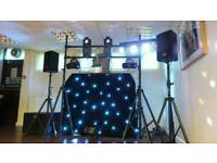Equinox DJ Booth with LED Starcloth
