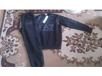 Mens EA7 Wet look Tracksuits