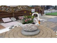 Stone Swan Planter