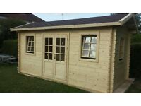 Log cabin ,summer house ,garden building 16 X 8 FT, 44 MM