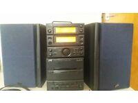 JVC soundsytem and 2 speakers ONLY £20
