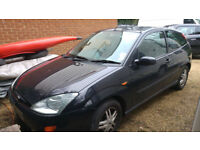 Ford Focus 1.6 petrol - 3 door automatic in black - 2001only 46,000 miles
