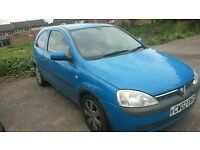 Good Condition Vauxhall Corsa - Clutch gone but new MOT