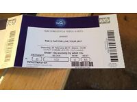 X Factor Tickets x4 at the O2