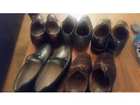 5 Pairs of Cheap Durable Designer UK 8 Men's shoe: Russel & Bromley, Zara, Ted Baker & Moreschi