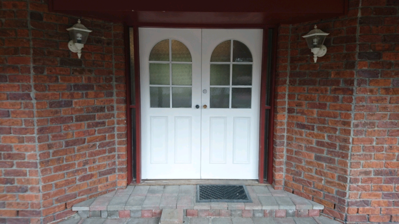 Solid Timber French Doors with Surround | Building Materials ...