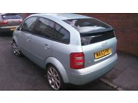2003 AUDI A2, 1.6ltr 5dr MANUAL PETROL WITH 4mths MOT.