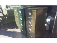 3 vintage filing cabinets .