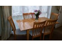 Extending Dining Table Set - for sale.