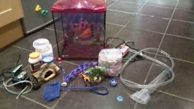 Pink mermaid fishtank starter kit