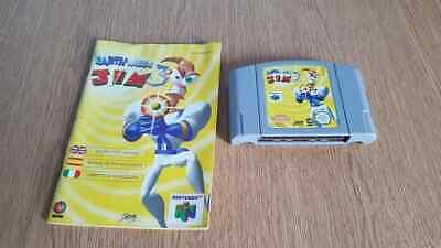 Nintendo N64 Earthworm Jim 3D Game and Manual