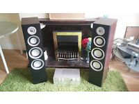 Hi-Fi Tower speaker/monitor Set. Includes stands & vintage JVC amp (2nd hand). Great condition
