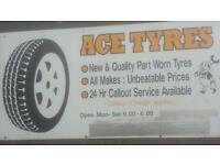 Partworn tyres sale on