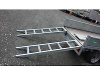 Heavy duty galvanised steel digger tractor roller van and car ramps fit trailers 2.5ton