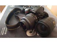 Nikon D5200 18-55mm VR lens Kit and Nikkor 18-70mm lens, lots of accesories