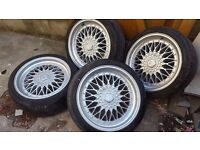 Bbs dare rs style 5x112 5x100 fits audi vw skoda seat 18 inch with tyres