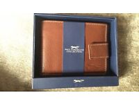 Paul Costelloe wallet brand new with tags brown leather