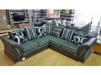 💯🔥💥SALE OFFER💯👉ON SHANNON BLACK AND GREY SOFA AVAILABLE IN 2+3
