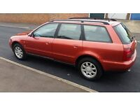 AUDI A4 MANUAL, ESTATE 1.6 LITRE PETROL, MOT TILL FEBRUARY 2017, IN GREAT CONDITION IN AND OUT
