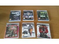 Ps3 6 Games used bundle excellent condition for sale