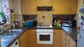 2 bedroom end of terrace with garage. Available on the 1st of March