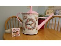 Beautifully decorated Vintage Galvanised Watering can. A one off piece of Artwork.