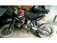 Pit bike with Honda cub 70 engine