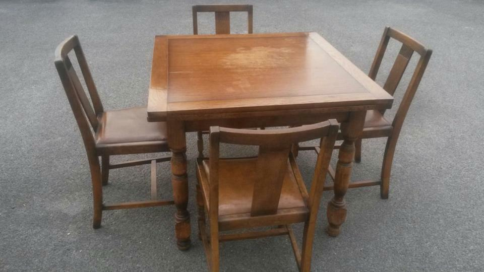 OAK DINING TABLE AND FOUR CHAIRS in Dorchester Dorset  : 86 from www.gumtree.com size 960 x 540 jpeg 61kB