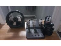g27steering wheel gearshift and pedals