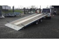 """NEW 16 x 6'8"""" TILTBED CAR TRANSPORTER MADE FROM INDESPENSION TRAILERS with 5 year chassis guarantee"""