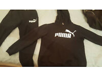 Puma tracksuit black worn but good condition