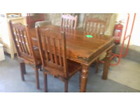 Sheesham, Table & 4 Chairs,, Very Good Condition Local Delivery.....