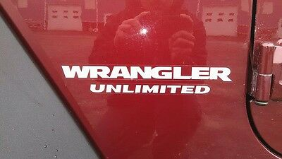 Jeep wrangler rubicon unlimited decals pair any color
