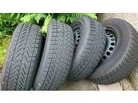 vredestein wintrac xtreme tyres on steel rims. 215 65 R16 98H