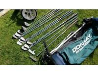 For sale golf bag, trolley and stand with full set of clubs