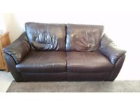 3 Seater Leather Sofa and Leather Chair Ex Cond.