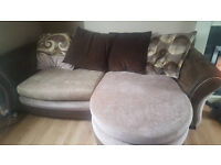DFS Brown large 3 seater sofa + chair