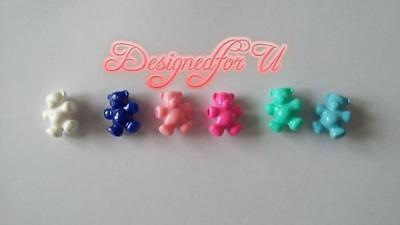6 x 25mm Teddy Bear Mixed Opaque Pony Beads IDEAL FOR DUMMY CLIP