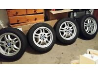 Bmw alloy wheels 205/55/16 new winter tyres 8mm