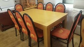 Beach Effect table with 8 chairs