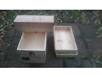 christmas decoration wood wine boxes, gift boxes, interior designer wine crates, 10 pound / each