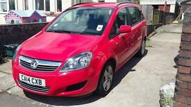 Vauxhall Zafira 1.8i (120) Exclusive 5dr 2014 Red