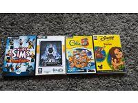 4 PC games, The Sims, Tomb Raider, Catz 5, Tarzan