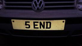 Registration Number - 5END for sale