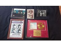 John Lennon Beatles limited edition collector 24 ct gold plated disc with book and 3 photos