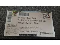 Kendall Calling Festival ticket. 3 days 29th July to 31st. Cumbria