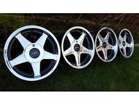 16's Genuine alloys AZEV A 4X108 all J9 ET15 FORDFiesta ST,Peugeot etc model cars pcd 4x108