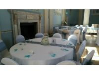 WEDDING DECORATIONS/ CHAIR COVERS
