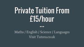 Enfield Tutors - £15/hr - Maths, English, Science, Biology, Chemistry, Physics, GCSE, A-Level